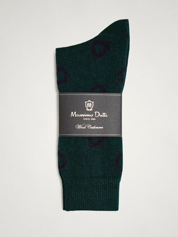 WINTER CAPSULE PAISLEY WOOL/CASHMERE SOCKS