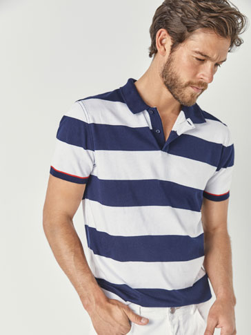 POLO ALGODÓN MENGUADO RAYAS SLIM FIT