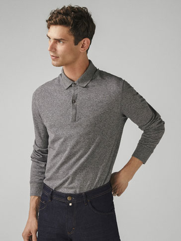 COTTON TEXTURED POLO SHIRT