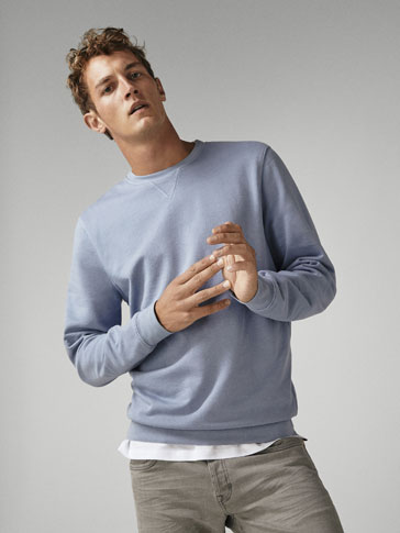 PLAIN COTTON SWEATSHIRT