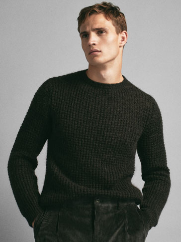 LIMITED EDITION TEXTURED WEAVE KNIT SWEATER