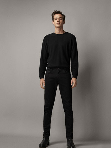 COTTON/CASHMERE TEXTURED WEAVE SWEATER