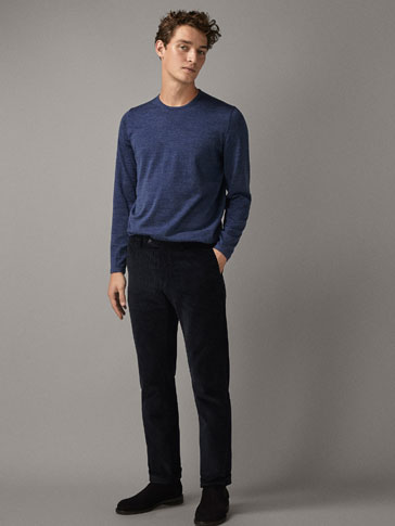 LIMITED EDITION PLAIN 100% MERINO SWEATER