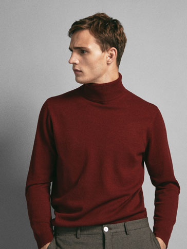 SOLID COLOUR LIMITED EDITION WOOL/CASHMERE SWEATER
