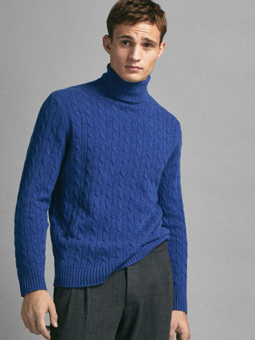 LIMITED EDITION 100% CASHMERE CABLE-KNIT SWEATER