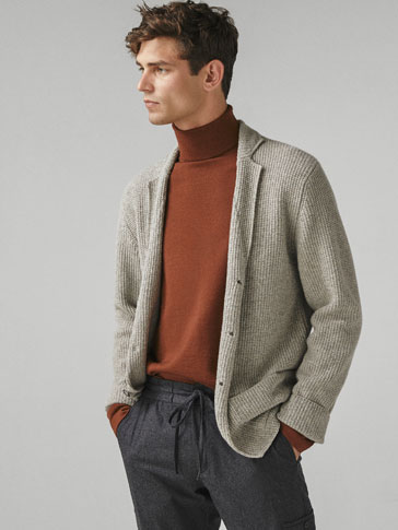MELANGE WOOL BLAZER SWEATER