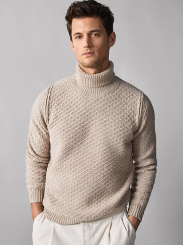 Textured Wool Sweater by Massimo Dutti