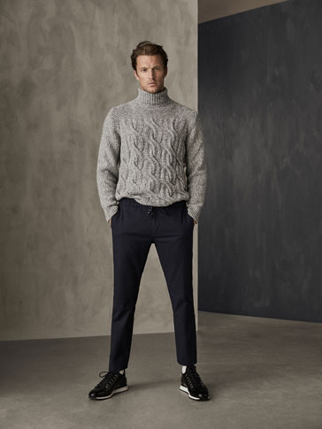 WINTER CAPSULE CABLE-KNIT WOOL SWEATER