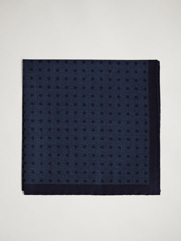 POLKA DOT 100% WOOL POCKET SQUARE