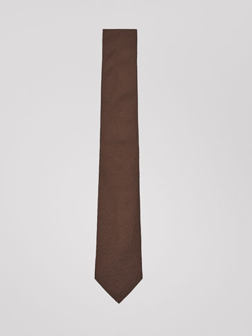 PLAIN SILK STRUCTURED TIE