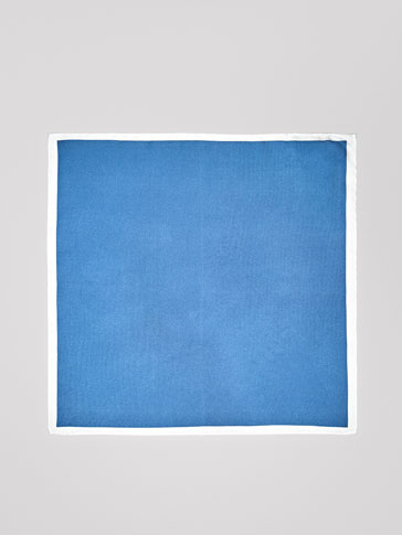SILK POCKET SQUARE WITH CONTRASTING EDGE