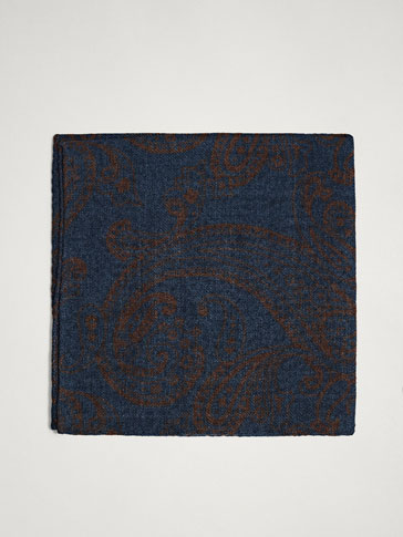 PAISLEY 100% WOOL POCKET SQUARE
