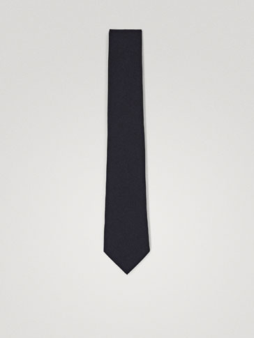 TRAVEL PLAIN WOOL TIE