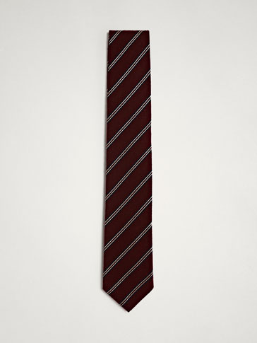 PERSONAL TAILORING STRIPED SILK TIE