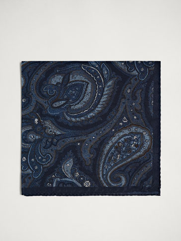 PERSONAL TAILORING PAISLEY SILK POCKET SQUARE