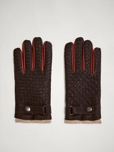LIMITED EDITION BRAIDED LEATHER GLOVES