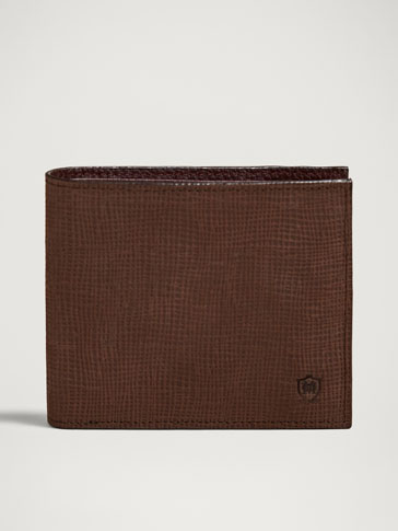CONTRASTING LEATHER WALLET