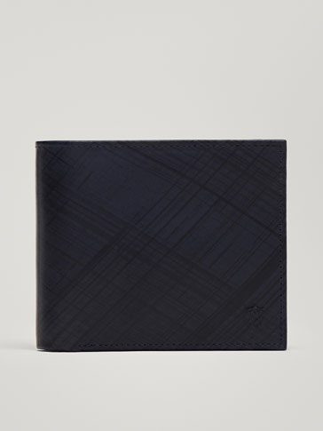 Brushed Leather Wallet by Massimo Dutti