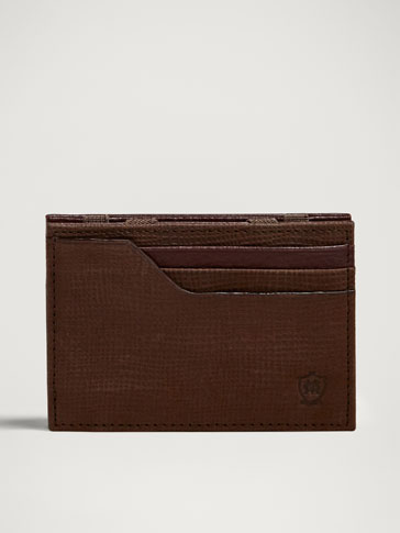 PORTATESSERE IN PELLE MAGIC WALLET CONTRASTO