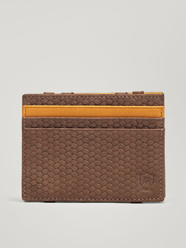 PORTACARTE IN PELLE MAGIC WALLET INCISIONE SPIGATA