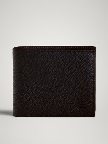 Limited Edition Embossed Leather Wallet by Massimo Dutti