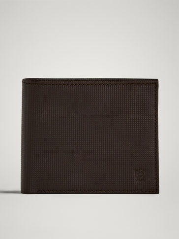 MICRO-CHECK EMBOSSED LEATHER WALLET
