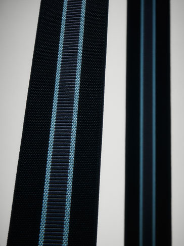 NAVY BLUE BRACES WITH STRIPE DETAIL