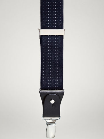 PERSONAL TAILORING POLKA DOT LEATHER BRACES