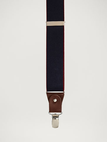 PERSONAL TAILORING PLAIN LEATHER BRACES