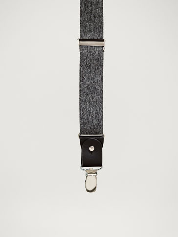 PERSONAL TAILORING MÉLANGE LEATHER BRACES