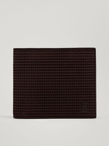 Laser Cut Leather Wallet by Massimo Dutti