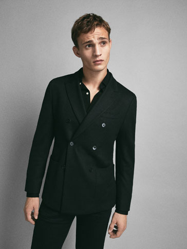VESTE TAILLEUR LAINE MAILLE SLIM FIT LIMITED EDITION