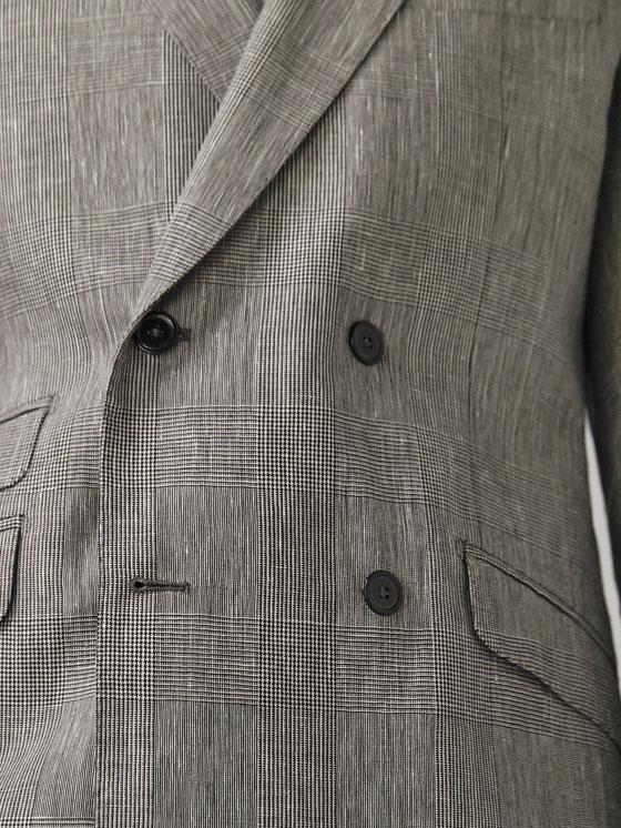 Massimo Dutti - VESTE TAILLEUR LAINE/LIN CARREAUX SLIM FIT - 7