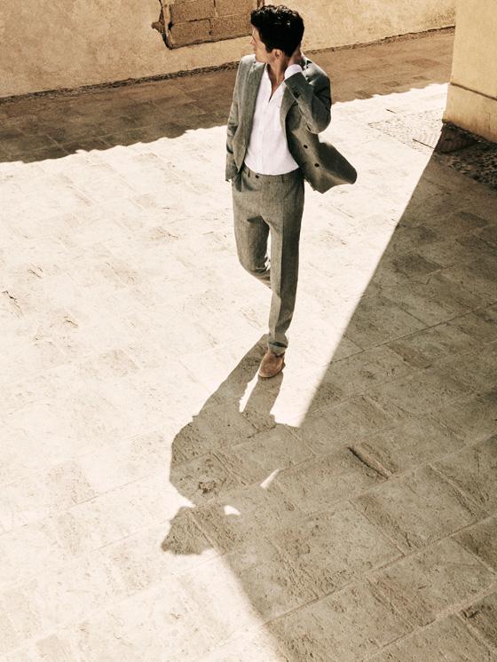 Massimo Dutti - VESTE TAILLEUR LAINE/LIN CARREAUX SLIM FIT - 2