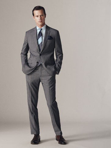 ΜΑΛΛΙΝΟ ΚΑΡΟ ΣΑΚΑΚΙ HALF-CANVAS SLIM FIT PERSONAL TAILORING