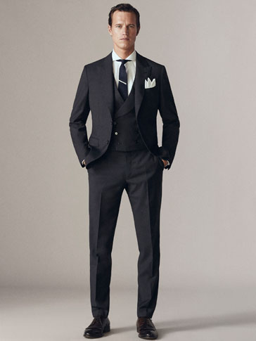 ΜΑΛΛΙΝΟ ΣΑΚΑΚΙ HALF-CANVAS SLIM FIT PERSONAL TAILORING