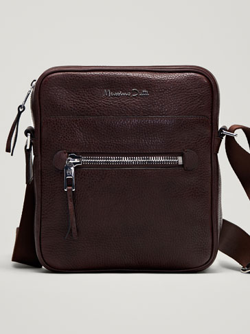 EMBOSSED MONTANA LEATHER CROSSBODY BAG