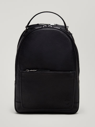 Montana Leather Backpack by Massimo Dutti