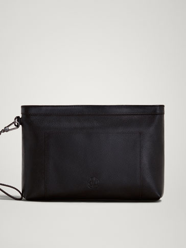 LIMITED EDITION EMBOSSED LEATHER CLUTCH