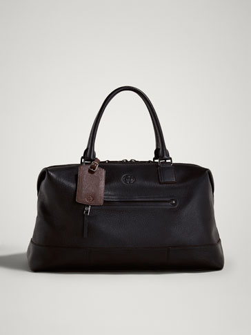 LIMITED EDITION EMBOSSED LEATHER TRAVEL HOLDALL