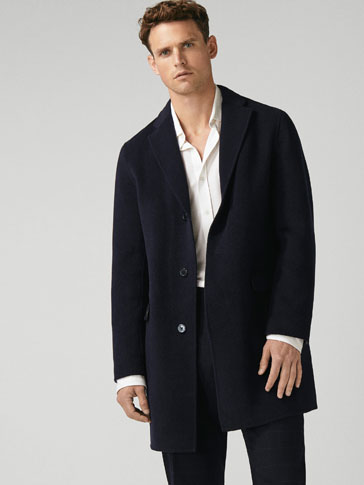 SLIM FIT DOUBLE-SIDED WOOL COAT