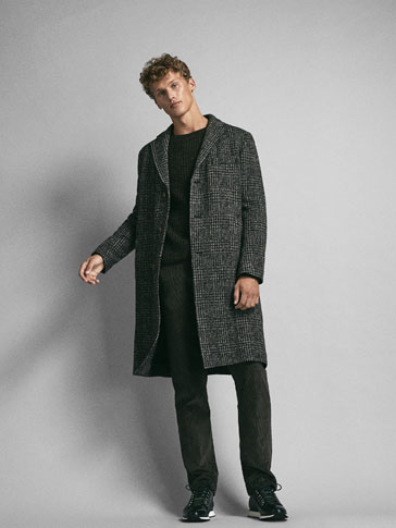 LIMITED EDITION CHECKED WOOL COAT