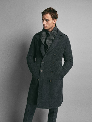 LIMITED EDITION DOUBLE-BREASTED TEXTURED WEAVE WOOL COAT