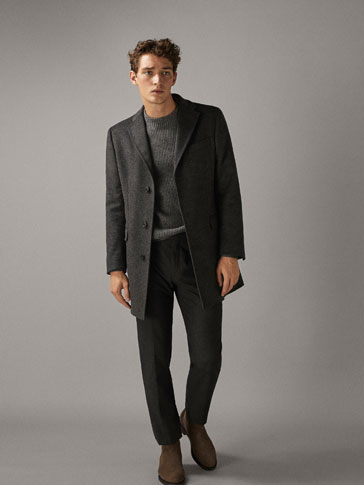 SLIM FIT WOOL COAT