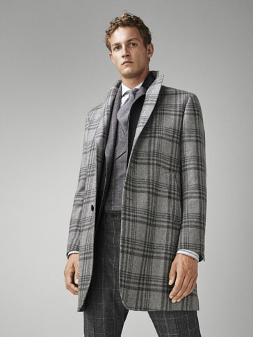 PERSONAL TAILORING CHECK WOOL COAT