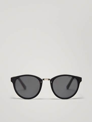 ROUND SUNGLASSES WITH METAL BRIDGE