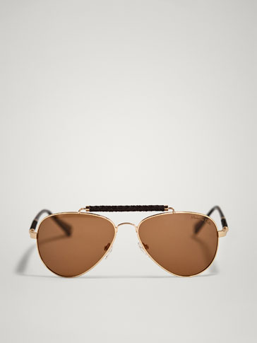 LIMITED EDITION AVIATOR GLASSES WITH BRAIDED DETAIL