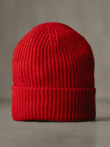 قبعة صوف 100% هيكل محزز WINTER CAPSULE