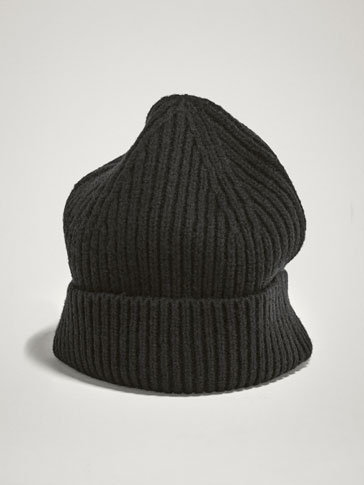 WINTER CAPSULE 100% WOOL TEXTURED RIB HAT