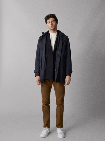 Technical Hooded Parka by Massimo Dutti